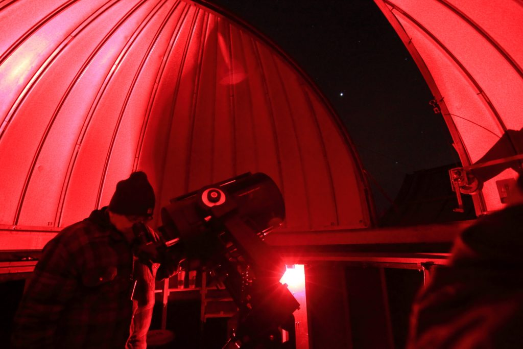 Observing in a dome with an LX200  telescope